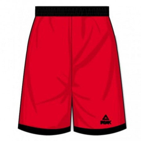 PEAK Short Streetball Homme Rouge
