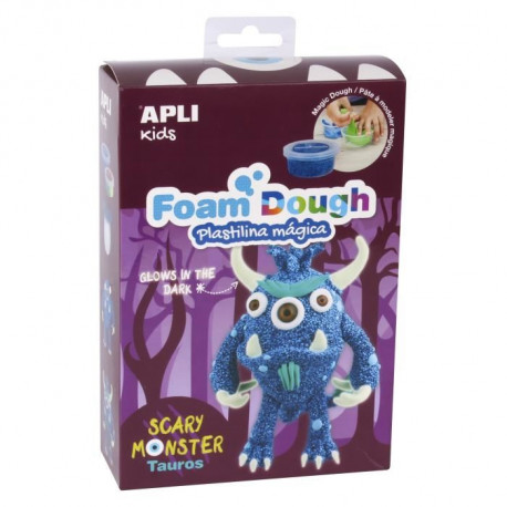 APLI Kit  Pâte a modeler en Fun Dough - Monstre bleu