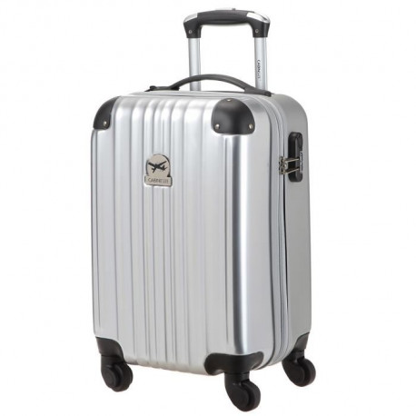 CABINE SIZE Valise Cabine Low Cost Rigide Polycarbonate/ ABS 4 Roues 46cm AGENCY Argent
