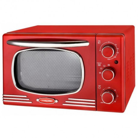 KALORIC OT2500-R - Mini four - 19,5 L - 1300 W - Minuterie 60 min - Design retro rouge