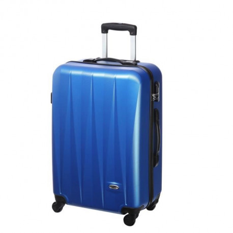 CASINO Valise trolley ABS - 60cm - 4 roues - Bleu
