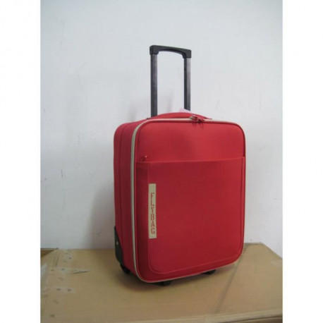 FLYBAG Valise cabine Low Cost souple 2 Roues 46 cm Rouge
