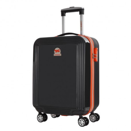 CABINE SIZE Valise Cabine Low Cost Rigide Polycarbonate et ABS 4 Roues 51cm FOX Anthracite