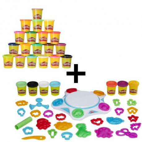 PLAY-DOH DIGITAL - Le Studio de Création + Super Pack Coloré 20 Pots