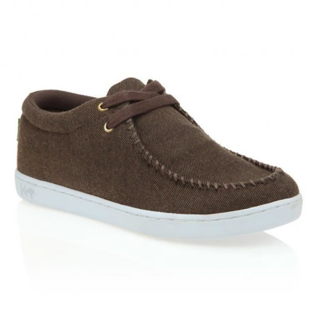 KEEP Chaussures Bateaux Solis Yarn Dyed Twill - Homme - Marron