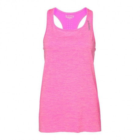 HAPPY & SO Debardeur Seamless - Femme - Rose fluo et Gris