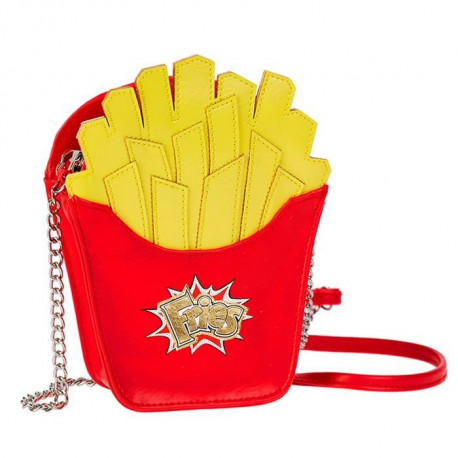 OHMYPOP Sac a main Fries Pet Fries - Rouge et jaune