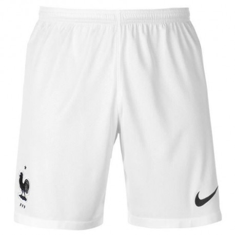 NIKE Short de Football domicile FFF France - Homme - Blanc