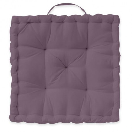 TODAY Coussin de sol 100% coton - 40 x 40 cm - Violet figue