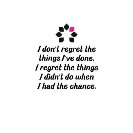 Stickers adhésif mural I don't regret the things I've done - 40x42cm