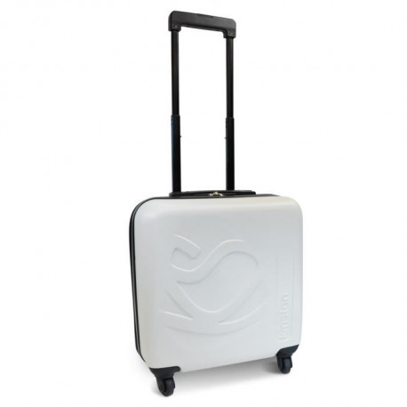 KINSTON Valise Cabine Low Cost Rigide ABS 4 Roues 46 cm Blanc