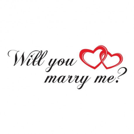 Stickers adhésif mural Will you marry me - 80x30cm
