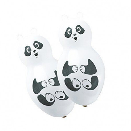 Lot de 4 Ballons - Latex - Forme Panda