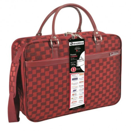 "SAVEBAG Valise de cabine ""Tatum"" SQUARE - 25L - Rouge"