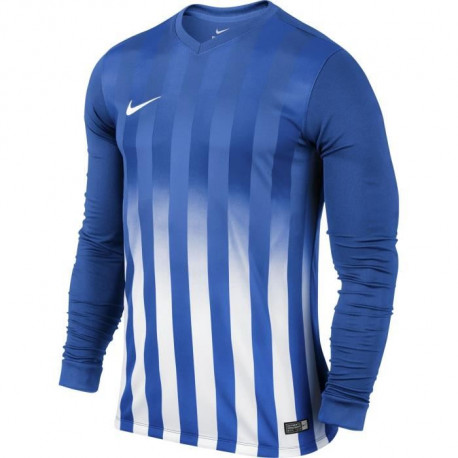 NIKE Maillot Manches longues Striped Division II - Bleu clair