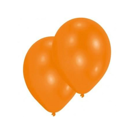 Lot de 10 Ballons - Latex - Orange