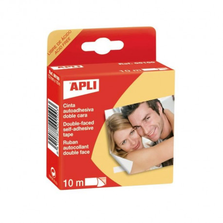 APLI Ruban Double face - 12 mm x 10 m