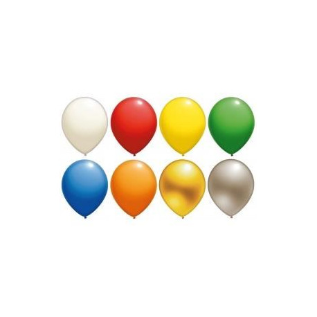 Lot de 10 Ballons - Latex - Argent