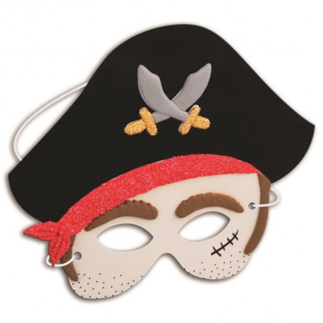 PADABOO Kit pâte a modeler 4 masques pirate