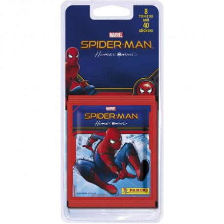 SPIDERMAN 6 HOME COMING Blister de 8 Pochettes