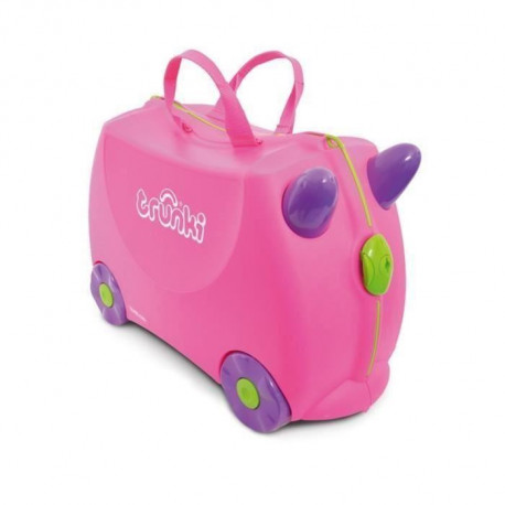 TRUNKI  Ride-on - Valise a roulettes pour enfants - Rose Trixie