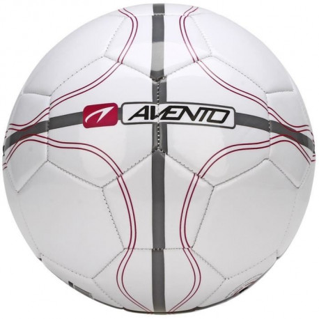 AVENTO Ballon de football - Blanc, gris et rouge