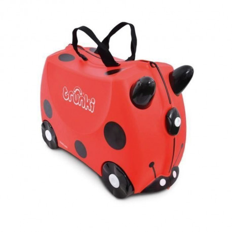 TRUNKI  Ride-on - Valise a roulettes pour enfants - Coccinelle Harley