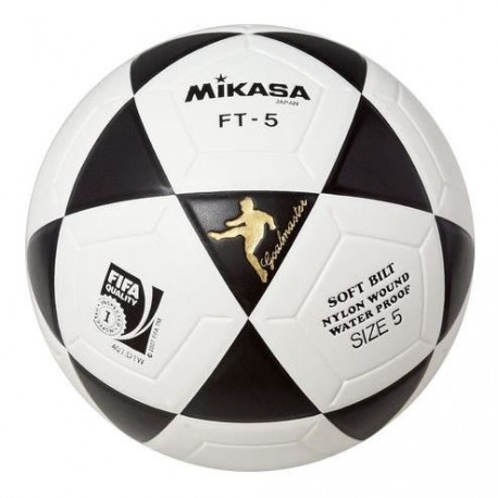 MIKASA Ballon de Football FT-5 - Blanc / Noir