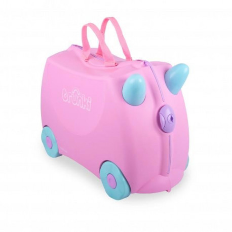 TRUNKI Ride-on Valise a roulettes Rosie - Rose clair