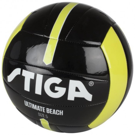 STIGA Ballon de football et volley Ultimate beach - Noir et jaune - Taille 4