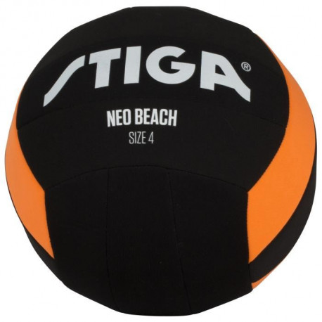 STIGA Ballon de football et volley Néo beach - Noir et orange - Taille 5