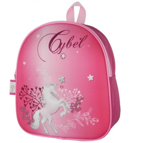 CYBEL - SAC A DOS Maternelle Fille 25x11x28 ROSE