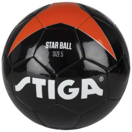 STIGA Ballon de football Star - Noir et orange - Taille 5