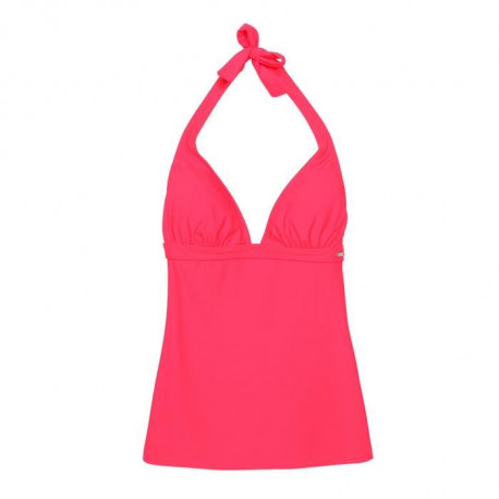 HAPPY AND SO Maillot de Bain Tankini - Femme - Rouge fluo