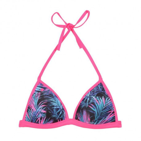 HAPPY AND SO Maillot de Bain Triangle push Tropic - Femme - Rose fluo