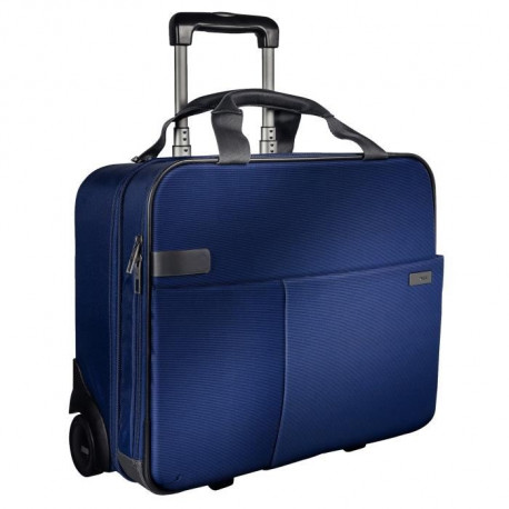 LEITZ Smart Traveller Trolley - Bagage cabine - 2 roues - Bleu