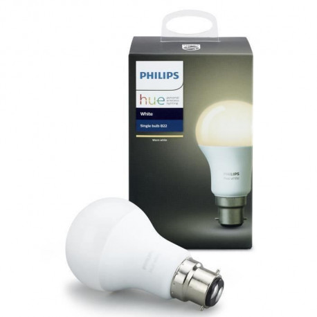 PHILIPS Hue White Ampoule LED connectée B22 9,5 W équivalent a 60 W