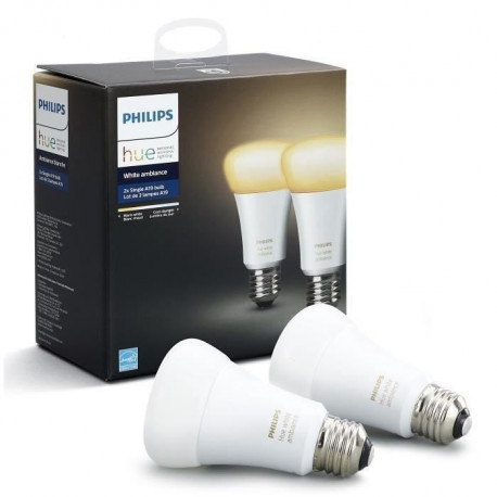 PHILIPS HUE Pack de 2 ampoules White Ambiance E27
