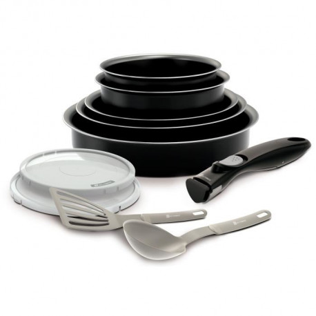 BACKEN EASYCOOK Batterie de cuisine Set 10 pieces - Noir