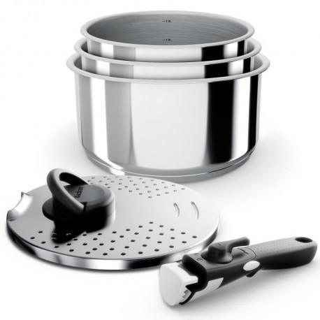 BACKEN Set de 5 Casseroles - Inox - Tous feux dont induction