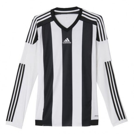 ADIDAS Maillot de Football Striped 15 Blanc / Noir