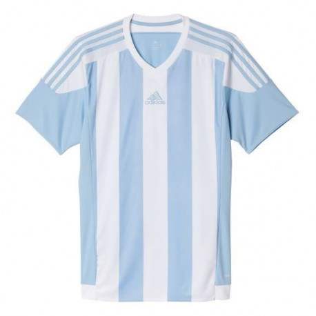 ADIDAS Maillot de Football Striped 15 Bleu / Blanc