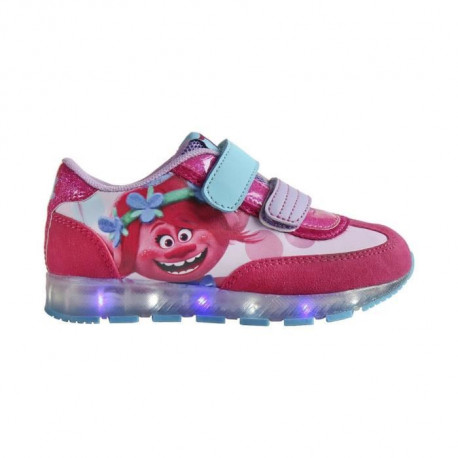 LES TROLLS Baskets a Led - Enfant fille - Rose fuchsia