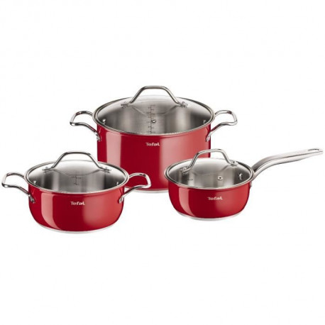 TEFAL INOX INTUITION COLORS Batterie de cuisine 6 pieces B903S374 16-20-24cm Tous feux dont induction