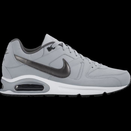 NIKE Baskets Air max Command Leather - Homme - Gris clair