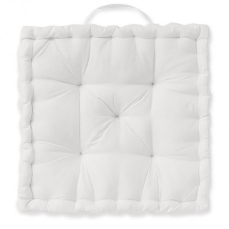 TODAY Coussin de sol 100% coton - 40 x 40 cm - Blanc chantilly