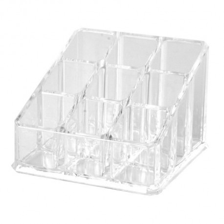 Rangement maquillage Cute - Polystyrene - 9 rangements - 8,7 x 9,6 x 6 cm - Transparent