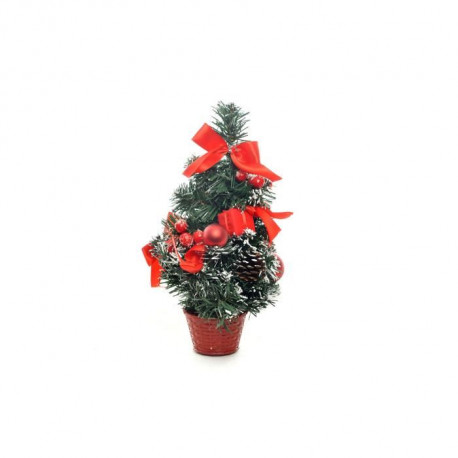 Sapin de table de Noël - H 30 cm - Rouge