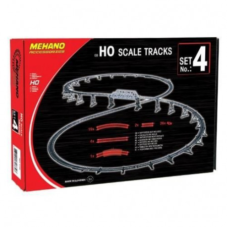 MEHANO Coffret de rails n°4 - 52 pieces