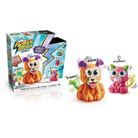 CANAL TOYS - POWER DOUGH - Crazy Animals - Donne Vie a ta Pâte a Modeler !